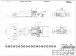 Type 72 General Arrangement Drawing ロータス72設計図